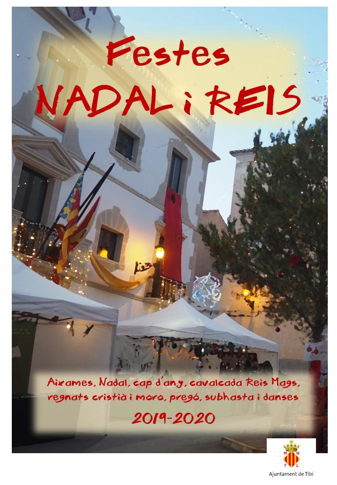 Programa de actos: fiestas de Navidad y Reyes
