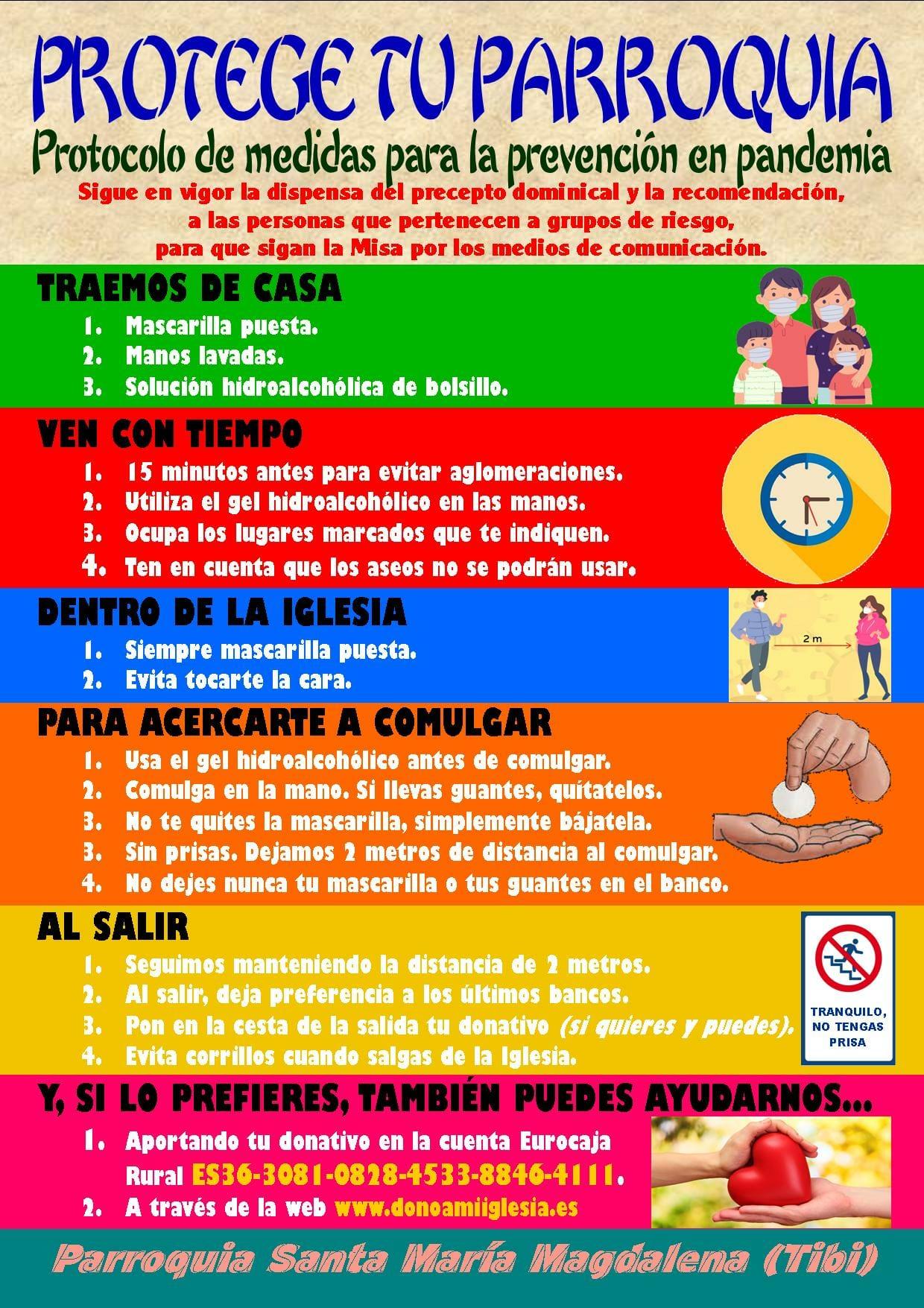 Protocolo de medidas de prevención - Iglesia Santa María Magdalena