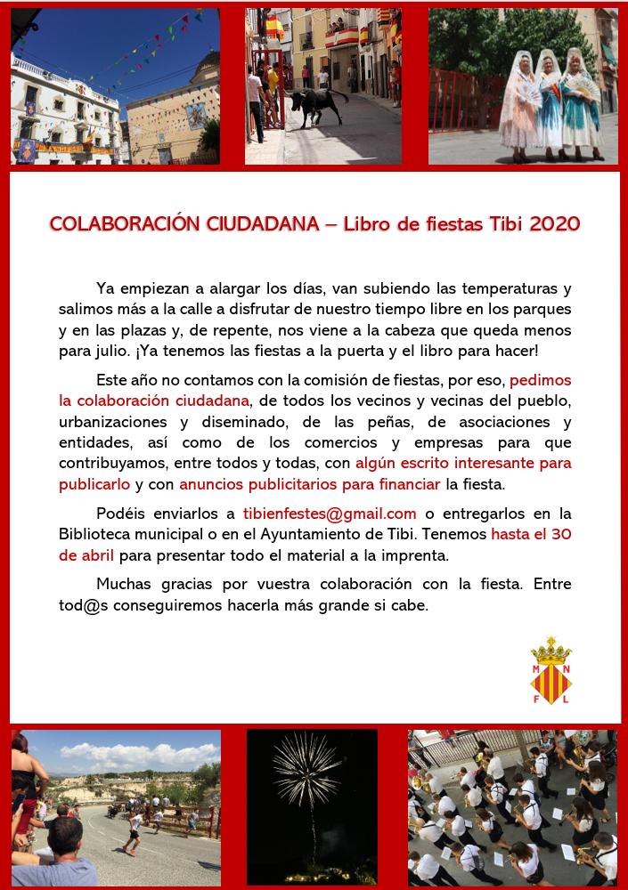 Colaboración ciudadana - Libro de fiestas Tibi 2020