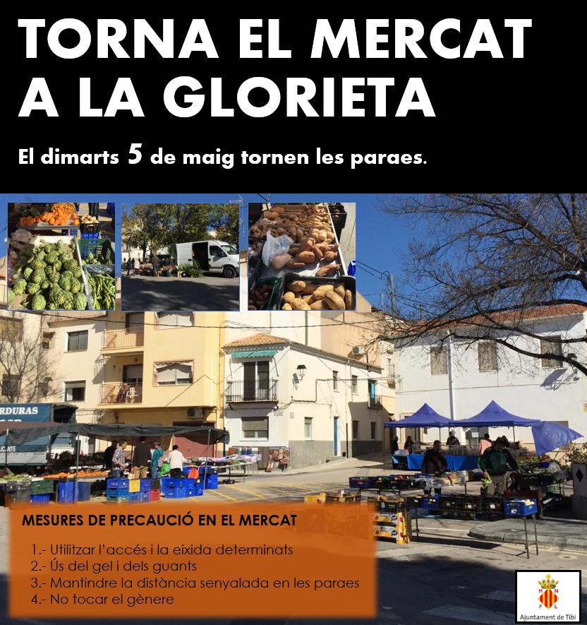 May 5, the market returns to La Glorieta