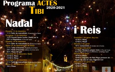 Programa actes Nadal i Reis 2020-2021